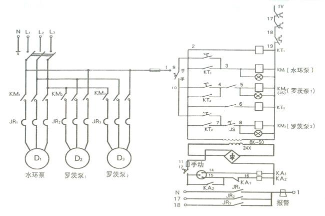 三级启动电路图